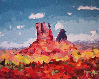 Southern Utah Painting - Abstract Desert 1 by Kim Cyprian