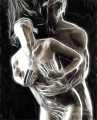 Nude Photograph - Abstract Digital Artwork Of A Couple Making Love by Oleksiy Maksymenko