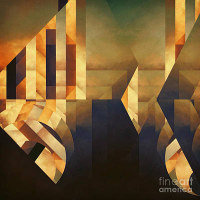 Abstract Dimension Print by Lonnie Christopher