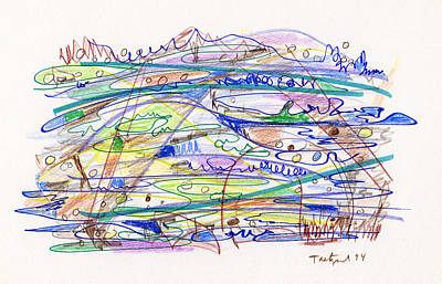 Abstract Drawing Eleven Print by Lynne Taetzsch