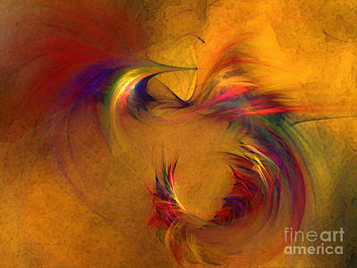 Friendly Digital Art - Abstract Fine Art Print High Spirits by Karin Kuhlmann