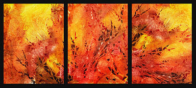 Dance Painting - Abstract Fireplace by Irina Sztukowski