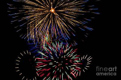 Firecracker Photograph - Abstract Firwoprks by Robert Bales