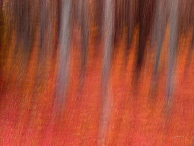Impressionistic Landscape. Fall Mixed Media - Abstract Forest 1 by Leland D Howard