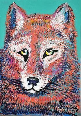 Abstract Coyote Painting - Abstract  Frederick by Barney Napolske