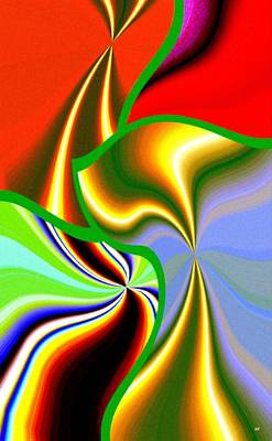 Amalgamation Digital Art - Abstract Fusion 200 by Will Borden