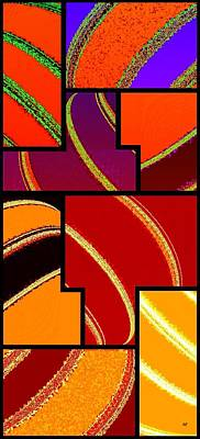 Amalgamation Digital Art - Abstract Fusion 232 by Will Borden
