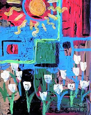 Abstract Garden Original by Genevieve Esson