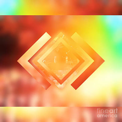 Gradations Digital Art - Abstract Geometric Gradient Colors by Beverly Claire Kaiya