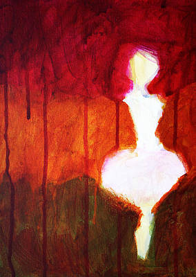 Ghostly Painting - Abstract Ghost Figure No. 2 by Nancy Merkle