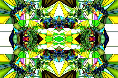 Abstract Glass Print by Ronald T Williams
