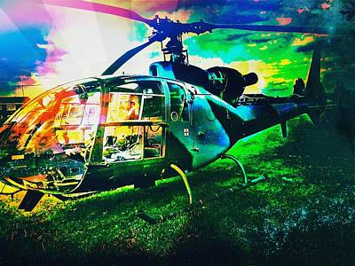 Helicopter Photograph - Abstract Helicopter  by Chris Drake
