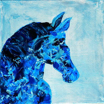 Abstract Horse Painting Original by Holly Anderson