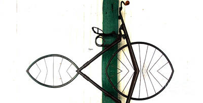 Bicycling Photograph - Abstract In Geometric Velocipede  by Steven  Digman
