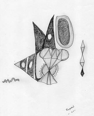 Surreal Drawing - Abstract In Pencil by Dan Twyman
