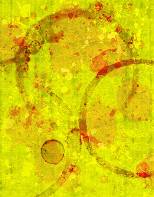 Abstract Ink And Water Stains Print by Lisa Noneman
