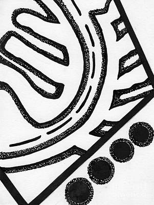 Abstract Shapes Drawing - Abstract Jewelry Pin 7 by Christine Perry