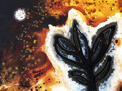 Espresso Painting - Abstract Landscape Art - New Growth - By Sharon Cummings by Sharon Cummings