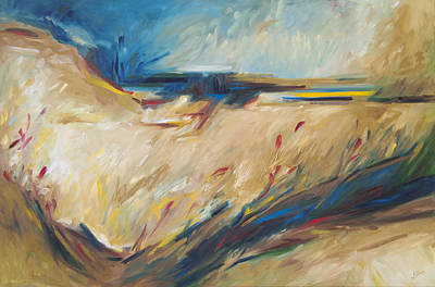 Painting - Abstract Landscape by John and Lisa Strazza