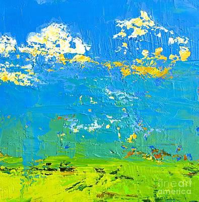 Abstract Lemons Painting - Abstract Landscape No 8 by Patricia Awapara
