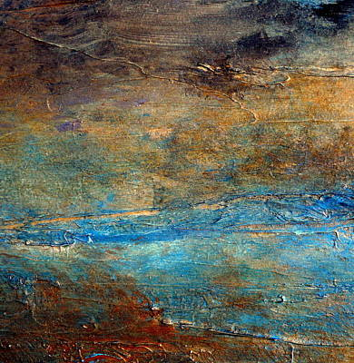Rustic Abstract Landscape Painting Print by Holly Anderson