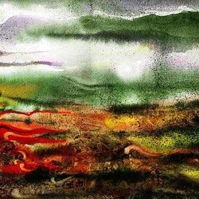Impressionistic Landscape Painting - Abstract Landscape Sunrise Sunset by Irina Sztukowski