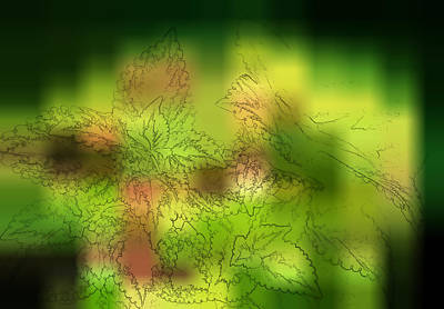 Abstract Leaves Print by Linda Phelps