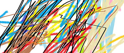 Abstract - Made By Matilde 4 Years Old Print by Giuseppe Epifani