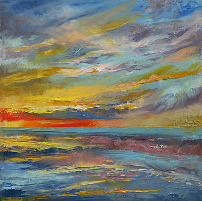 Abstract Seascape Painting - Abstract by Michael Creese