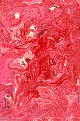 Abstract - Nail Polish - My Ice Cream Melted Print by Mike Savad