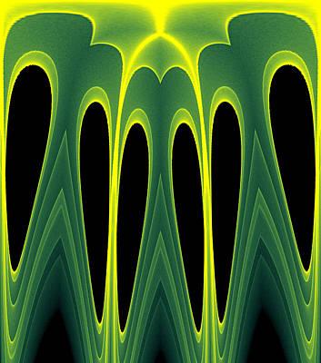 Abstract Of Balanced Green Print by Linda Phelps