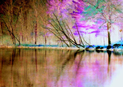 Abstract Park Beauty Print by Lori Pessin Lafargue