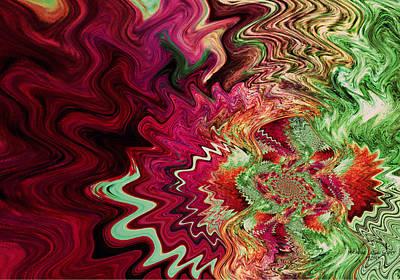 Vibrating Digital Art - Abstract Pizazz by Absinthe Art By Michelle LeAnn Scott