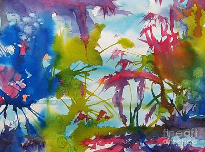 Splashy Art Painting - Abstract -  Primordial Life by Ellen Levinson