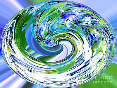 Abstract Reflections Digital Art #3 Print by Robyn King