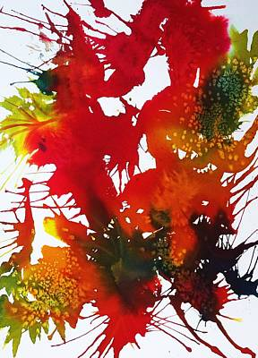 Splashy Art Painting - Abstract - Riot Of Fall Color II - Autumn by Ellen Levinson