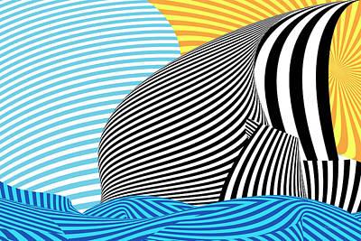 Abstract - Sailing Print by Mike Savad
