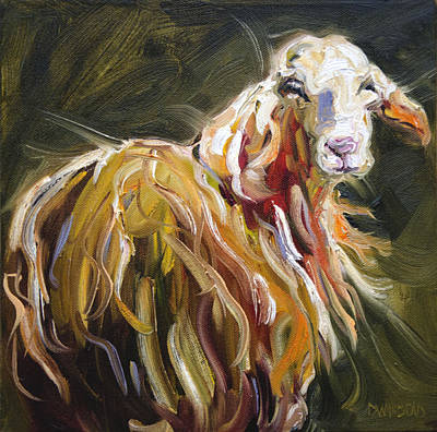 Abstract Sheep Original by Diane Whitehead