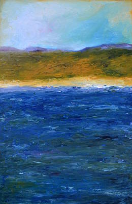 Oversized Painting - Abstract Shoreline by Michelle Calkins