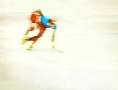 Sports Photograph - Abstract Speed Skate by Theresa Tahara