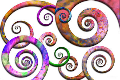 Suburban Digital Art - Abstract - Spirals - Planet X by Mike Savad