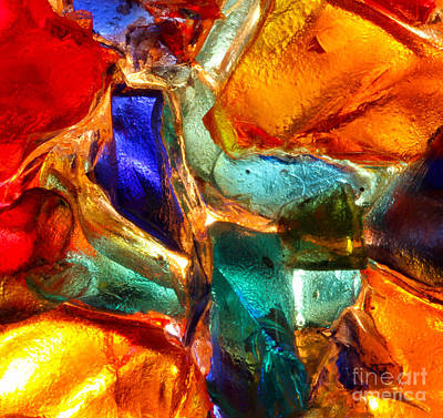 Abstract Stained Glass  Print by Kerstin Ivarsson