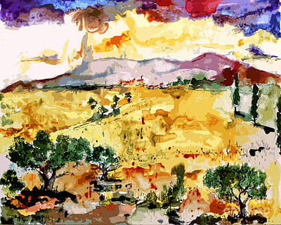 Abstract Summer Landscape Print by Ginette Callaway