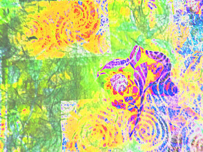 Abstract The Colors Of Time And Place Print by Regina Kyle