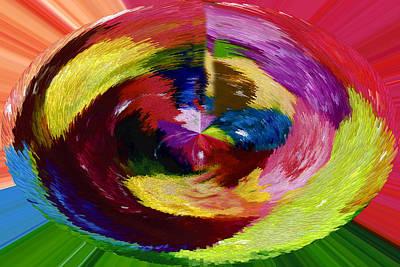 Encaustic Digital Art - Abstract  Twelve  Of  Twenty  One by Carl Deaville
