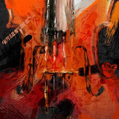 Abstract Violin Print by David G Paul
