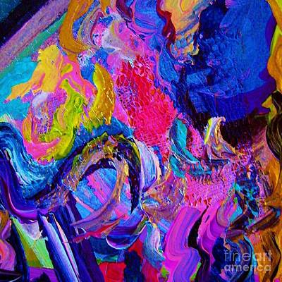 Lime Green Painting - Abstract Viscosity by Eloise Schneider