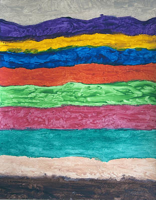 Flowing Lines And Shapes Painting - Tidal Waves by Stormm Bradshaw
