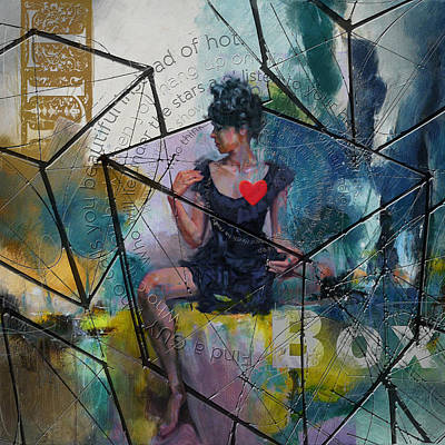 Elusive Painting - Abstract Woman 002 by Corporate Art Task Force