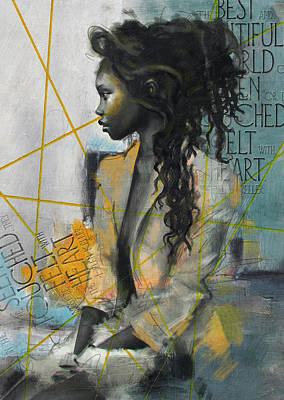 Elusive Painting - Abstract Women 004 by Corporate Art Task Force